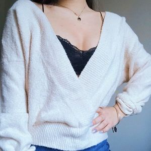Urban outfitters deep v sweater